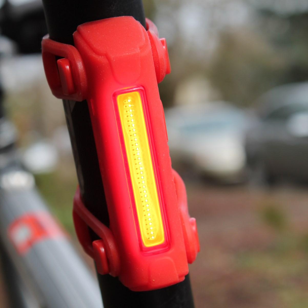 Serfas UTL-6 Thunderbolt 90 Lumens LED Bike Tail Light USB Rechargeable Clear